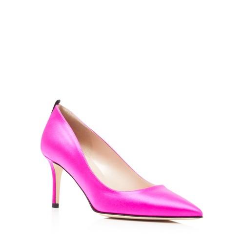 Women's Fawn Satin Mid Heel Pumps