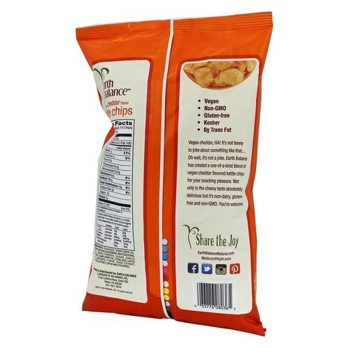 Earth Balance Kettle Chips, Vegan Cheddar, 5 Ounce
