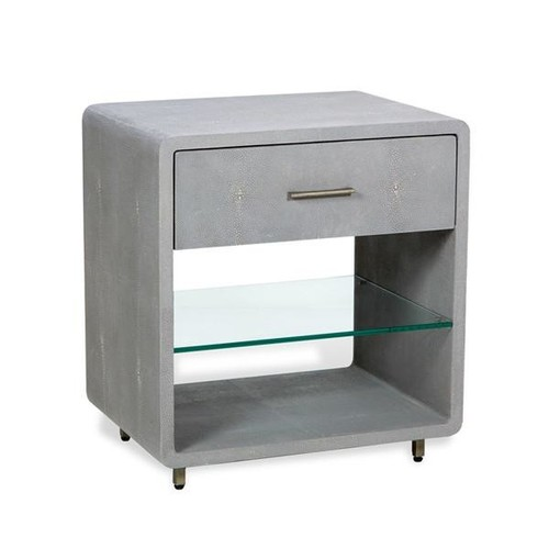 Calypso Bedside Chest in Grey design by Interlude Home