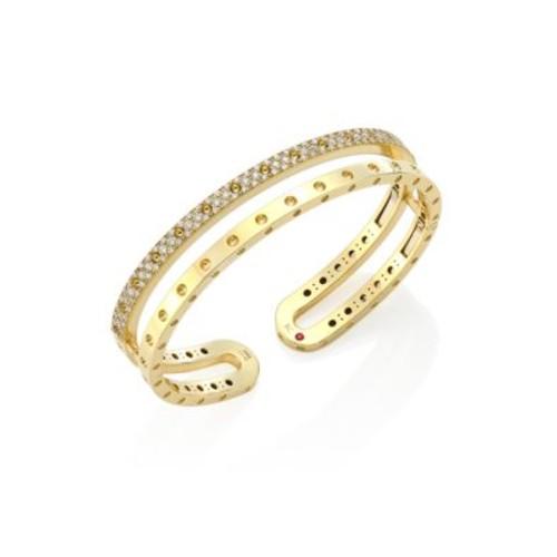Symphony Pois Mois Diamond & 18K Yellow Gold Double Bangle