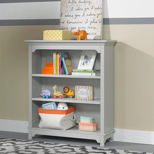 Ti Amo Palazzo Bookcase Hutch - Misty Grey