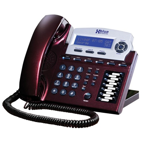 XBLUE Networks X16 Corded Telephone, Red Mahogany