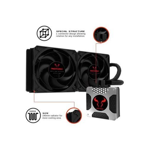 Liquid CPU Cooler, RIOTORO New Generation BiFrost AMD / Intel Platforms Water Cooling Fan with 240mm Radiator [TR-240]