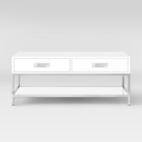 Ronchamp Coffee Table Chrome/White - Project 62