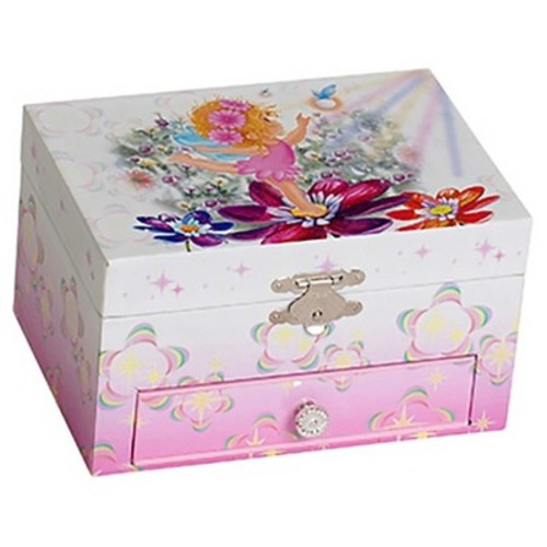 Mele & Co. Ashley Girl's Musical Ballerina Jewelry Box (Fairy & Flowers Design)