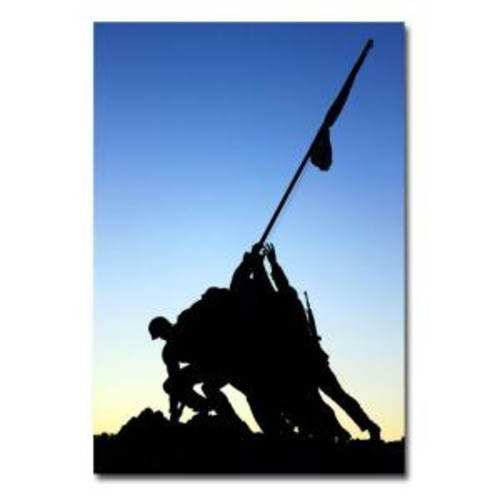 Trademark Fine Art 22 in. x 32 in. Iwo Jima Memorial Canvas Art