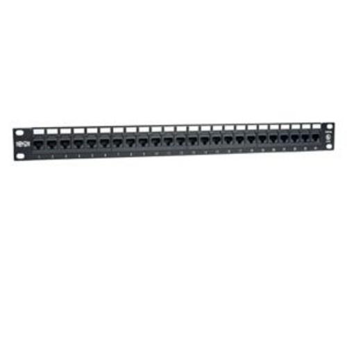 Tripp Lite 24-Port Cat6 Cat5 Patch Panel Rackmount 110 Punch Down RJ45 Ethernet (N252-024)