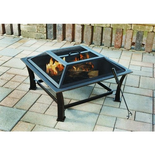 Outdoor Expressions 30 In. Square Fire Pit - FT-51256B
