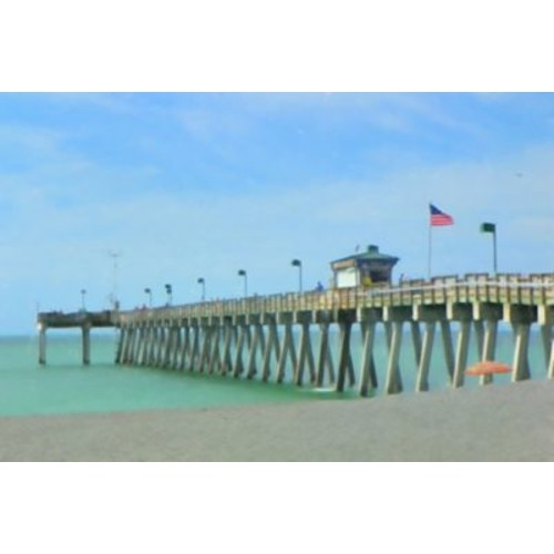 Highland Dunes 'Sharky's Pier' Photographic Print on Canvas