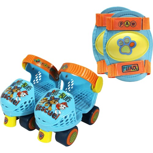 Playwheels Boys' Paw Patrol Roller Skates and Knee Pads