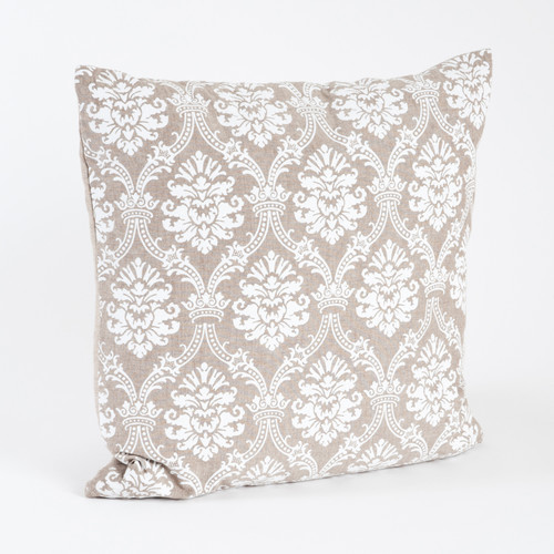Saro Abbeville Baroque Design Cotton Throw Pillow