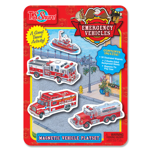 TS Shure Emergency Vehicles Magnetic Tin Playset
