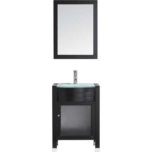 Virtu USA Ava 24-inch Glass Top Single Bathroom Vanity Set [option : Espresso - Espresso Finish]