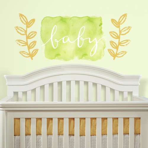 RoomMates Kathy Davis Baby Watercolor Peel and Stick Giant Wall Decals
