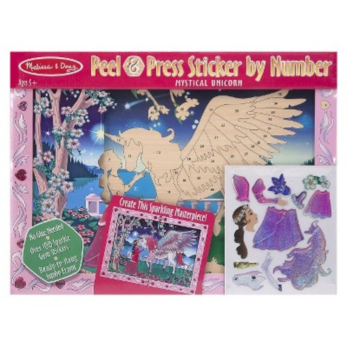 Melissa & Doug Sticker By Number Mystical Unicorn