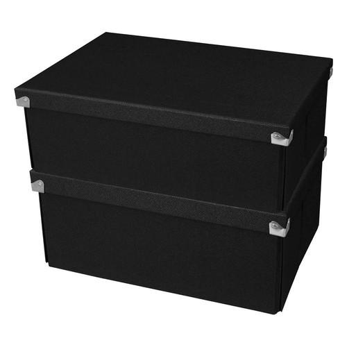 Samsill Pop n' Store Medium Square Box in Black (2-Pack)