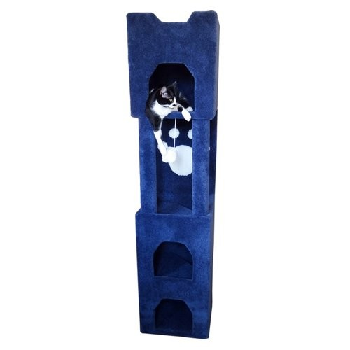 Cat Condos Premier 6' Cat Tower, Brown : Cat Trees : Pet Supplies [Brown]