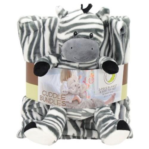 Animal Adventure Cuddle Bundle Blanket - Zebra