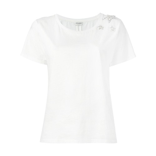 SAINT LAURENT Crystal Stars T-Shirt