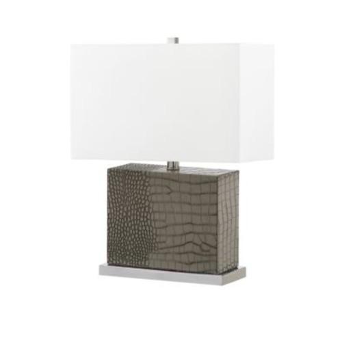 Safavieh - Faux Alligator Modern Table Lamp