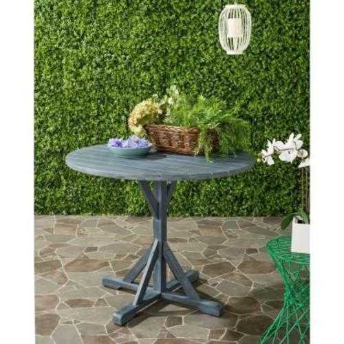 Safavieh Arcata Ash Grey Round Outdoor Patio Accent Table
