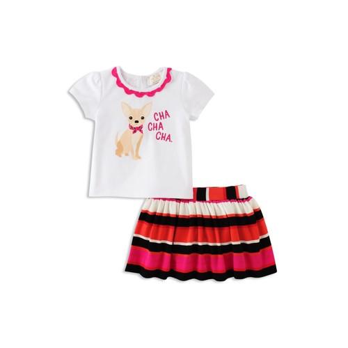 KATE SPADE NEW YORK Girls' Cha Cha Cha Tee & Skirt Set - Baby