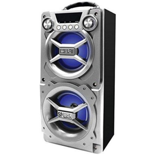 Sylvania Sp328-silver Bluetooth[r] Speaker With Speakerphone [silver]