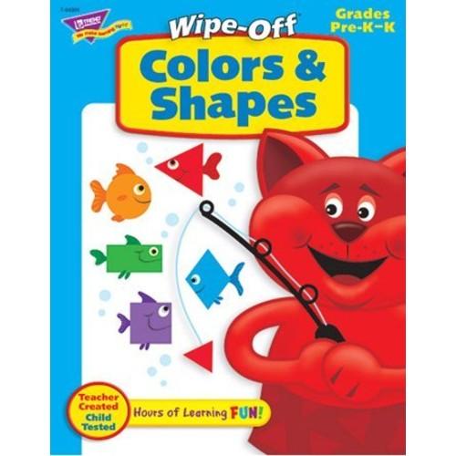 Trend Enterprises Colors & Shapes Wipe-Off Book (28 Pages) (1 Piece)