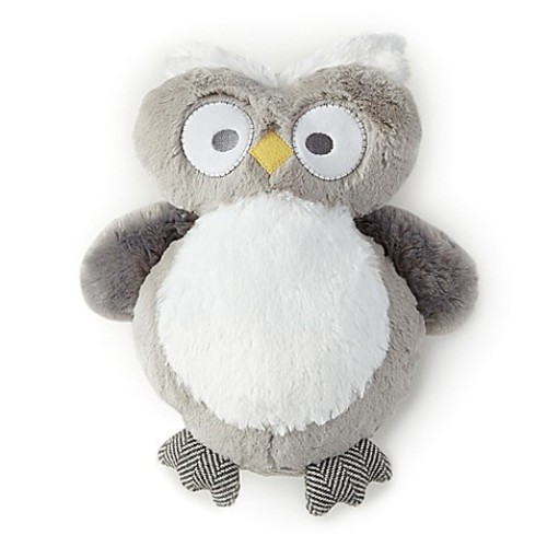 Levtex Baby Micah Plush Owl Toy in Grey/Blue