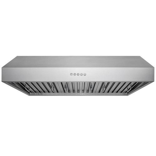 AKDY 36 in. Kitchen Under Cabinet Range Hood in Stainless Steel with LED Lights and Touch Panel Control