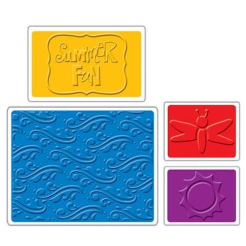 Sizzix Textured Impressions Embossing Folder, Summer Fun Set