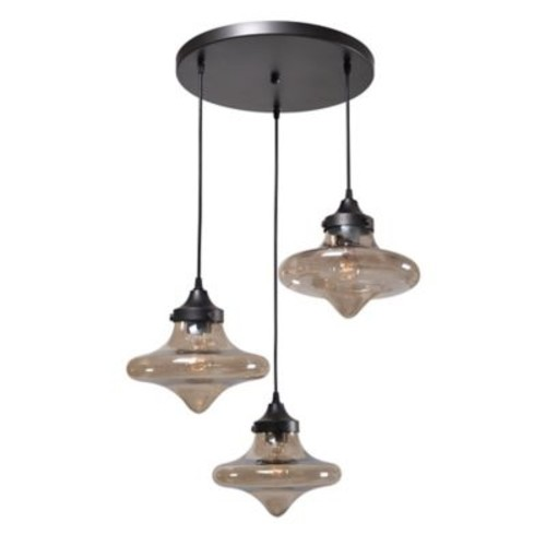 Kenroy Home Raindrop 3-Light Pendant in Bronze