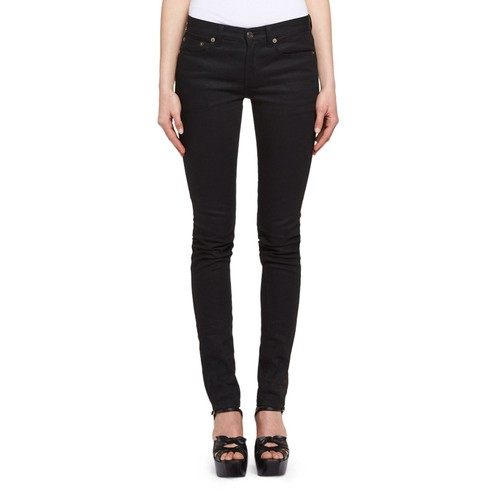 SAINT LAURENT Denim Skinny Jeans, Black