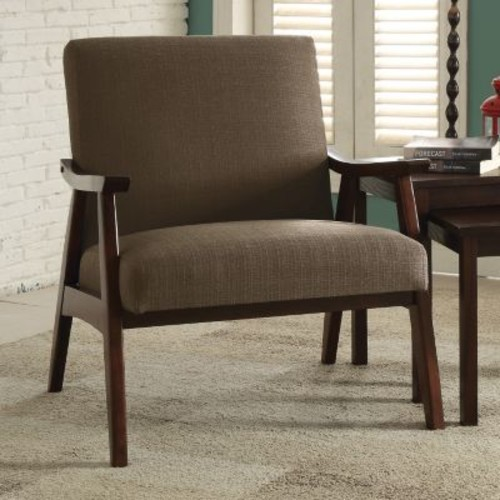 AVE SIX Davis Klein Otter Fabric Arm Chair