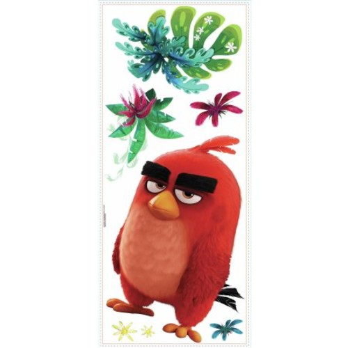 RoomMates Decor Angry Birds the Movie Red Peel-and-Stick Giant Wall Decals