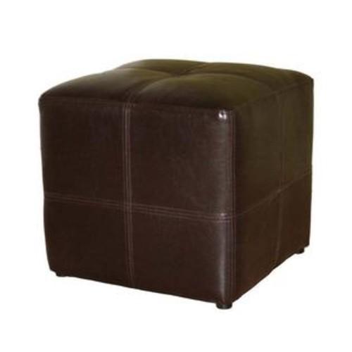 Baxton Studio Nox Small Cube Leather Ottoman