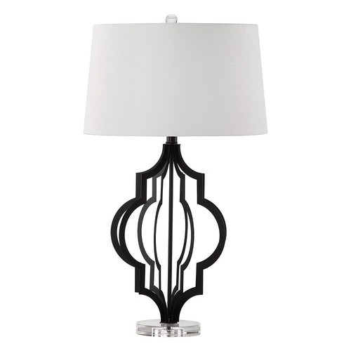 Safavieh Lighting Collection Flint Black 30-inch Table Lamp