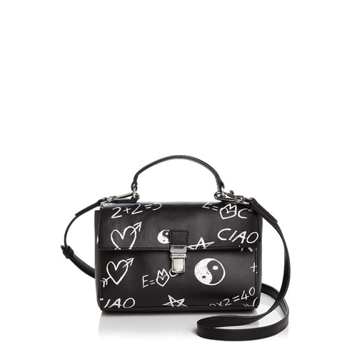 LOVE MOSCHINO Graffiti Leather Satchel