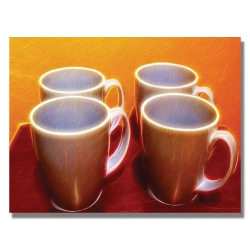 Java Cups by Kathie McCurdy, 35x47-Inch Canvas Wall Art [35 by 47-Inch]