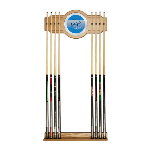 Orlando Magic Hardwood Classics Billiard Cue Rack with Mirror