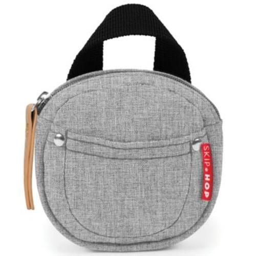SKIP*HOP Grab & Go Pacifier Pocket in Grey Melange