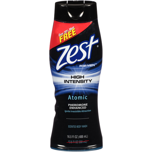 Zest For Men High Intensity Atomic Body Wash, 16.5 fl oz. Bottle