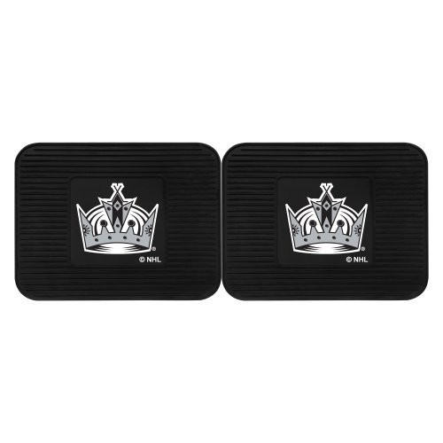 Fanmats 12421 NHL Los Angeles Kings Rear Second Row Vinyl Heavy Duty Utility Mat, (Pack of 2)