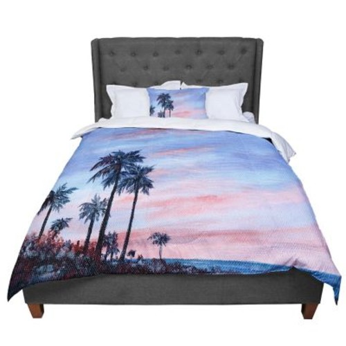 East Urban Home Rosie Florida Sunset Palm Tree Comforter; Queen