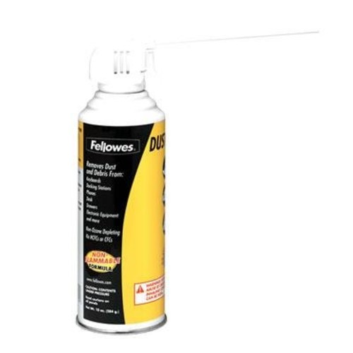 Fellowes Air Duster, 134A Liquefied Gas, 10oz Can