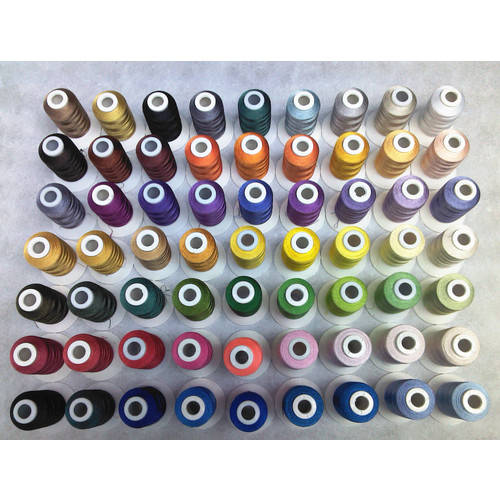 Simthread 40wt polyester embroidery machine thread 63 assorted colors 500m each