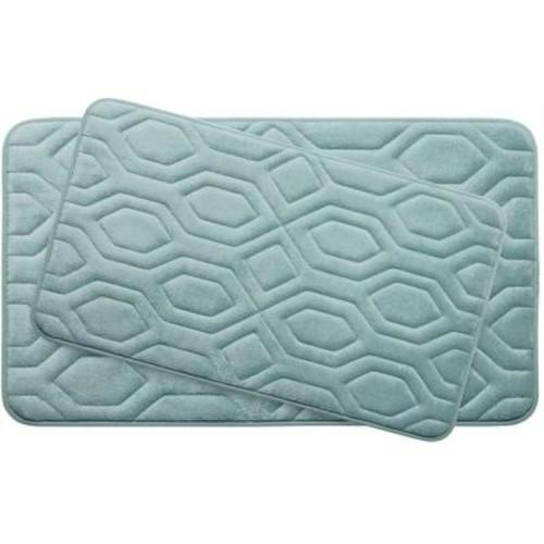 BounceComfort Turtle Shell Aqua Memory Foam 2-Piece Bath Mat Set