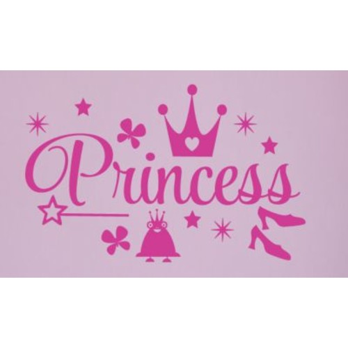 SweetumsWallDecals Princess Wall Decal; Hot Pink