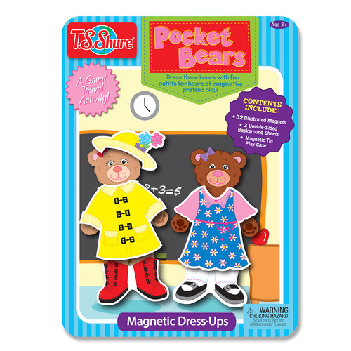 TS Shure Pocket Bears Dress Ups Magnetic Tin Playset