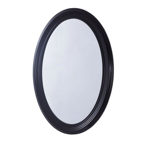 Bellaterra Home Newberg 21 in. x 31 in. Oval Single Framed Wall Mount Mirror in Espresso